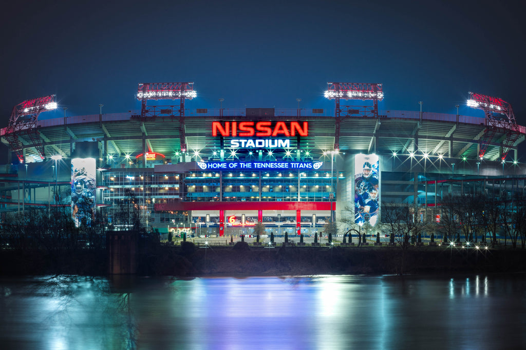 Nissan Stadium Nashville City Photography Metal Print Wall Art Picture Home Decor Poster Landmark Bedroom Livingroom