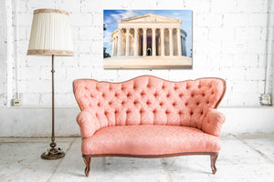 Jefferson Memorial Washington DC Skyline Canvas Photography Metal Print Wall Art Picture Home Decor Poster Landmark Bedroom Livingroom