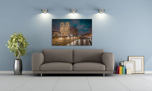 Notre-Dame Cathedral Church Paris France Canvas Photography Metal Print Wall Art Picture Home Decor Poster Landmark