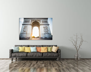 Arc de Triomphe Downtown Paris France Monument Canvas Photography Metal Print Wall Art Picture Home Decor Poster Landmark