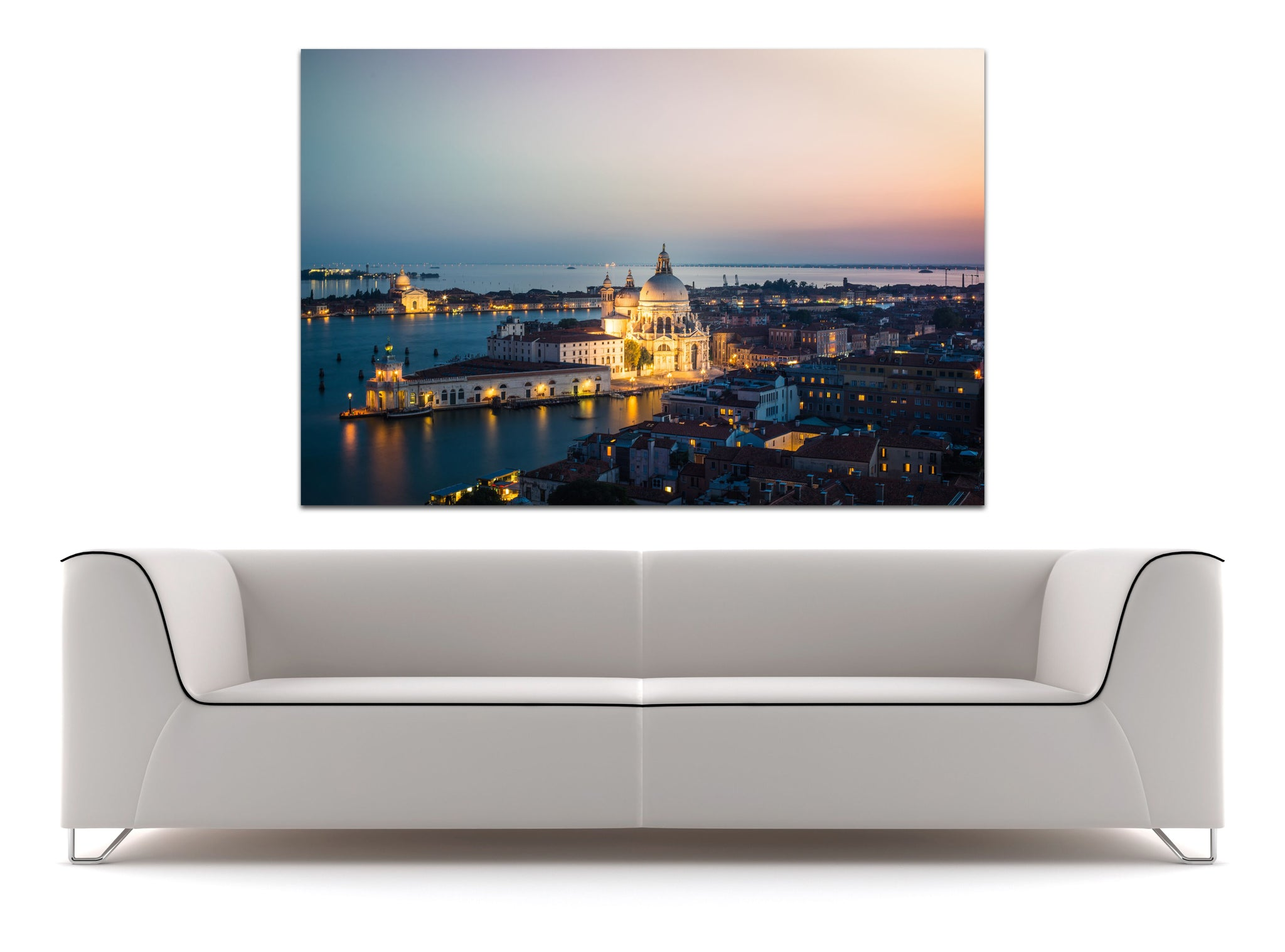 Venice Italy Grand Canal Sunset Skyline Canvas Photography Metal Print Wall Art Picture Home Decor Poster Landmark Bedroom Livingroom