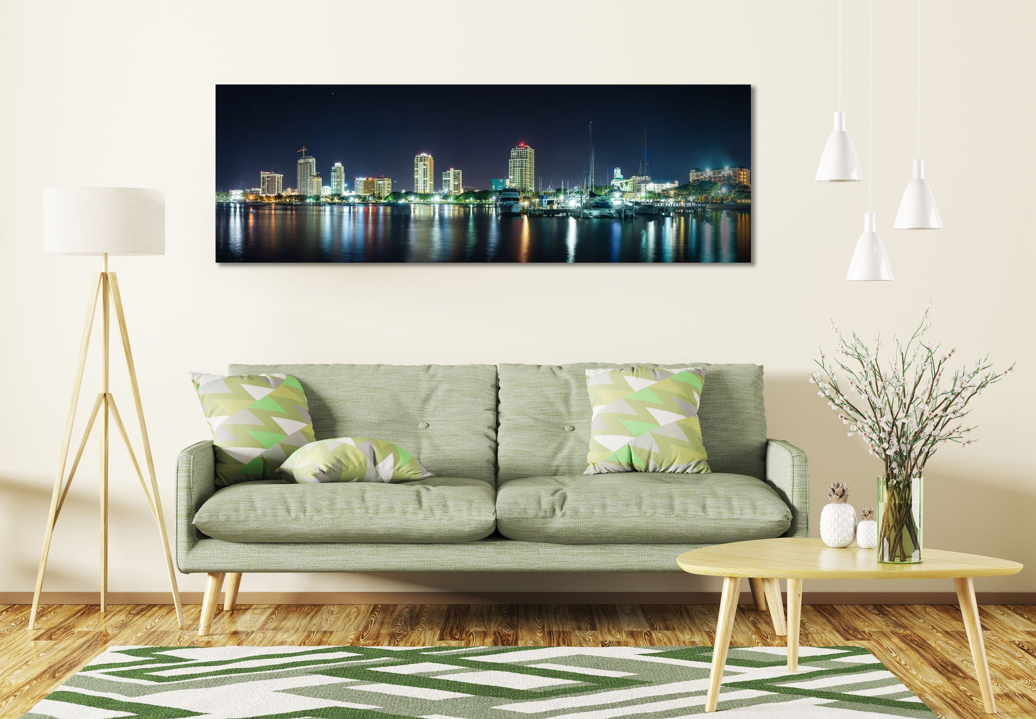 St Petersburg Florida Skyline Canvas Photography Metal Print Wall Art Picture Home Decor Poster Landmark Bedroom Livingroom Don CeSar Hotel