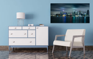 Toronto Skyline Pier Eiffel Tower Downtown Skyline Photography Blue Canvas Metal Print Livingroom Bedroom Wall Art Poster Decor Canada