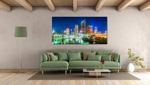 Tampa Downtown Skyline Florida Canvas Photography Metal Print Wall Art Picture Home Decor Poster Landmark Hillsborough River