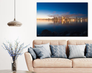 Toronto Downtown Skyline Sunset Canvas Photography Metal Print Wall Art Picture Home Decor Poster Landmark Bedroom Livingroom