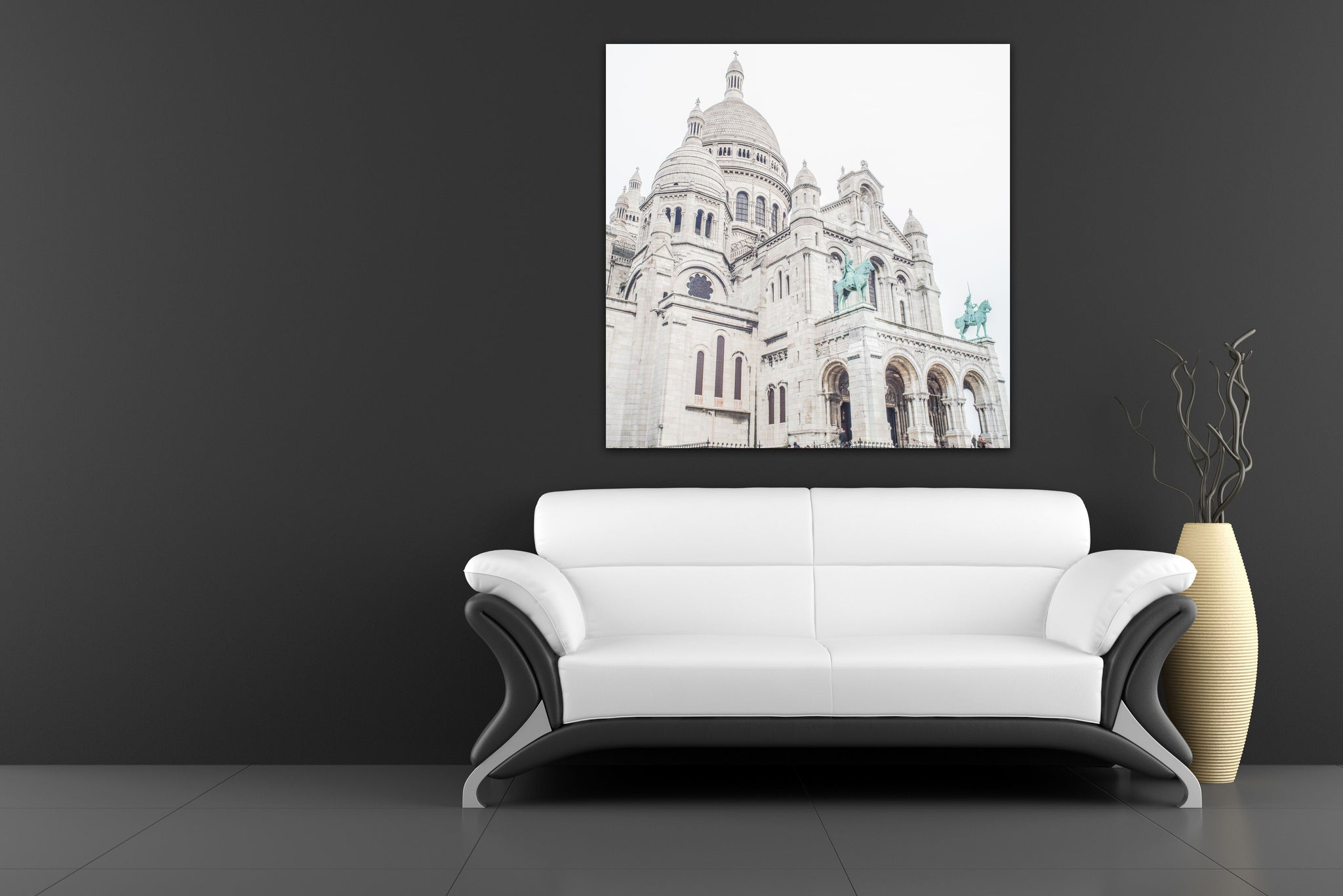 Sacré Cœur Cathedral Church Paris France Canvas Photography Metal Print Wall Art Picture Home Decor Poster Landmark