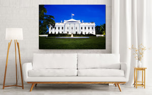 White House Washington DC Oval Office Skyline Canvas Photography Metal Print Wall Art Picture Home Decor Poster Landmark Bedroom Livingroom