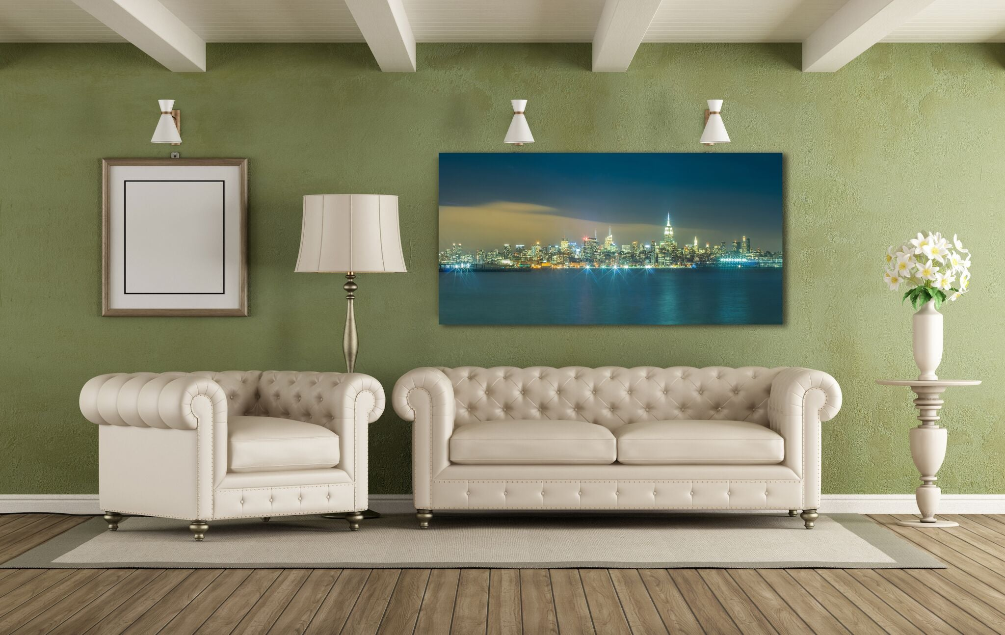 New York City Midtown Manhattan Skyline Empire State Building Canvas Photography Metal Print Wall Art Picture Home Decor Poster Landmark