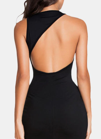 Eli Backless Dress-Black - Posh Fashion Girls