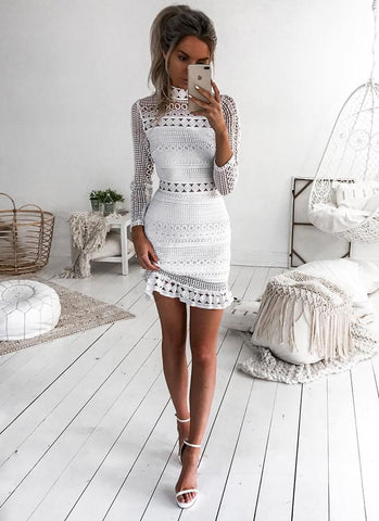 Atra Dream Lace Dress- White - Posh Fashion Girls