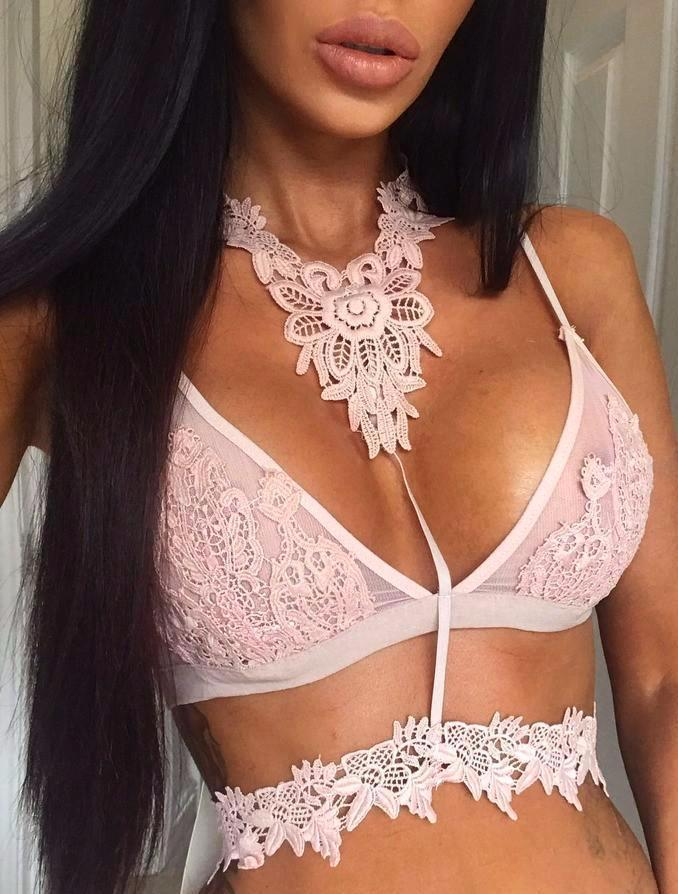 J'adore Lace Bralette -Pink - Posh Fashion Girls