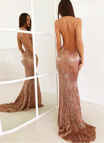 Amelia Night Star Sexy dress-Rose Gold