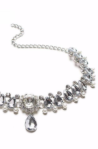 Allure Choker-Silver - Posh Fashion Girls