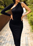 Dasha Modern Dress- Black - Posh Fashion Girls