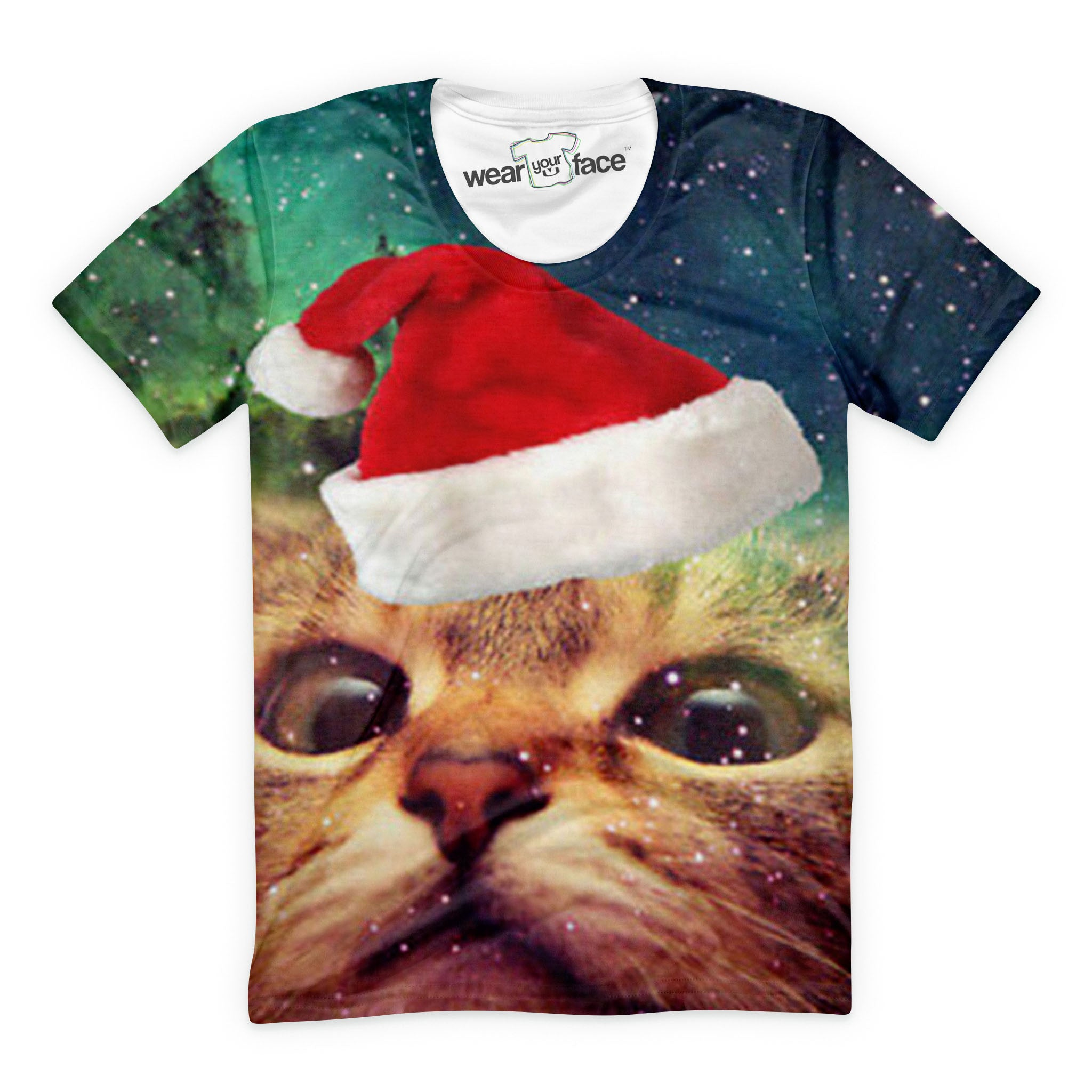 Christmas Cat Takes a Selfie T-Shirt
