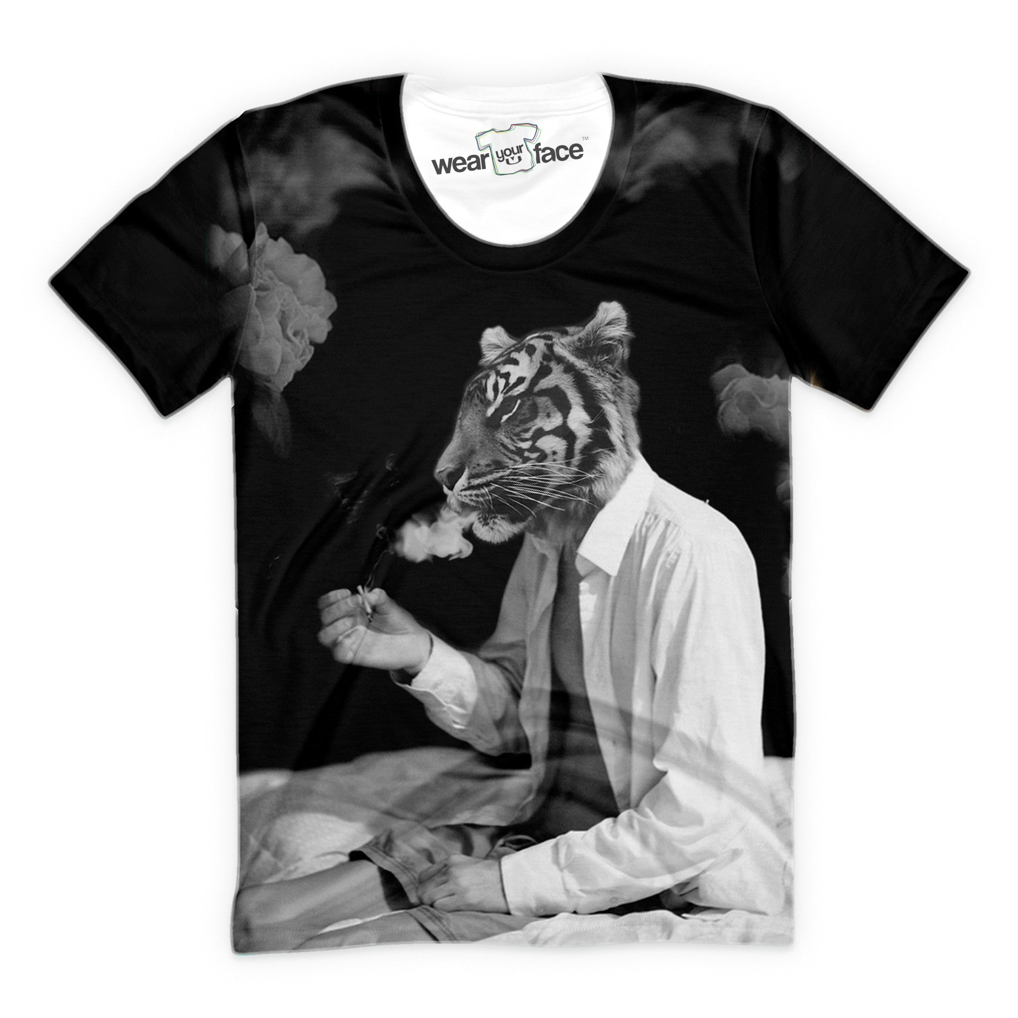 Smoking Tiger T-Shirt