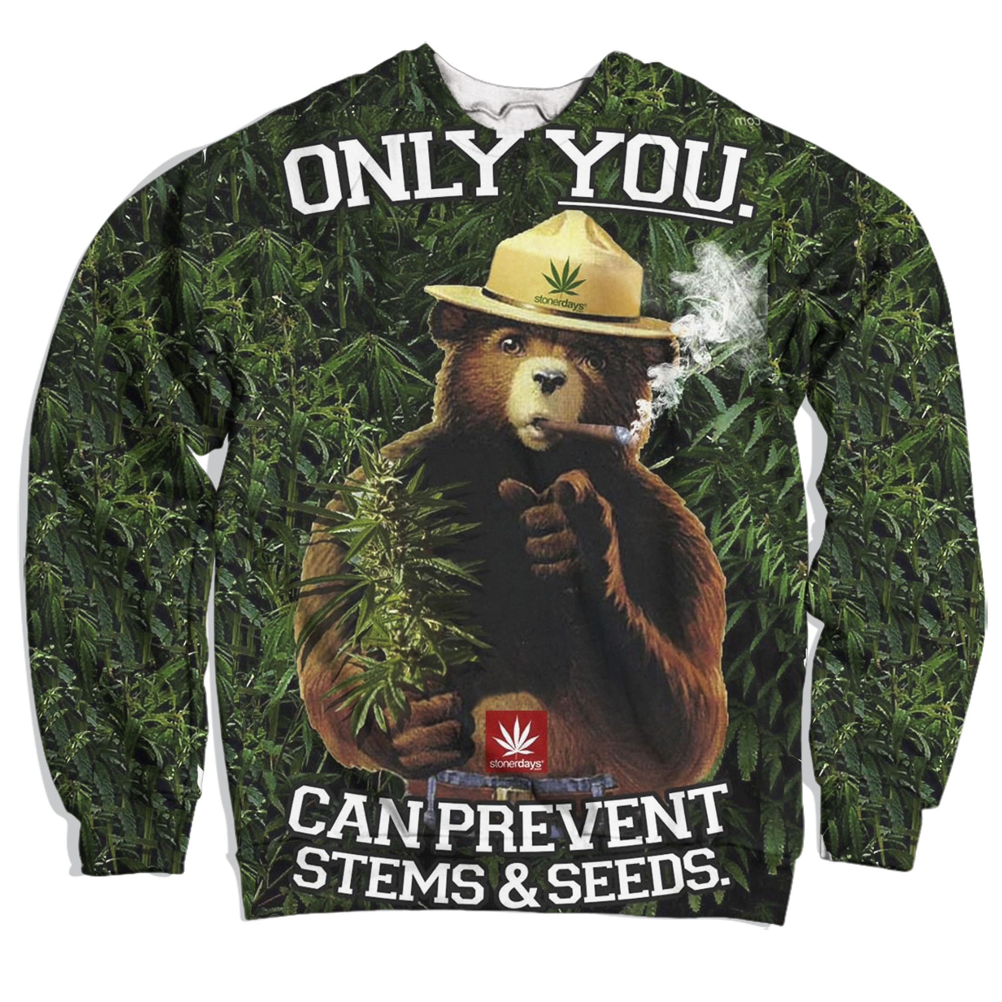 Smokey the Bear Pot Sweatshirt