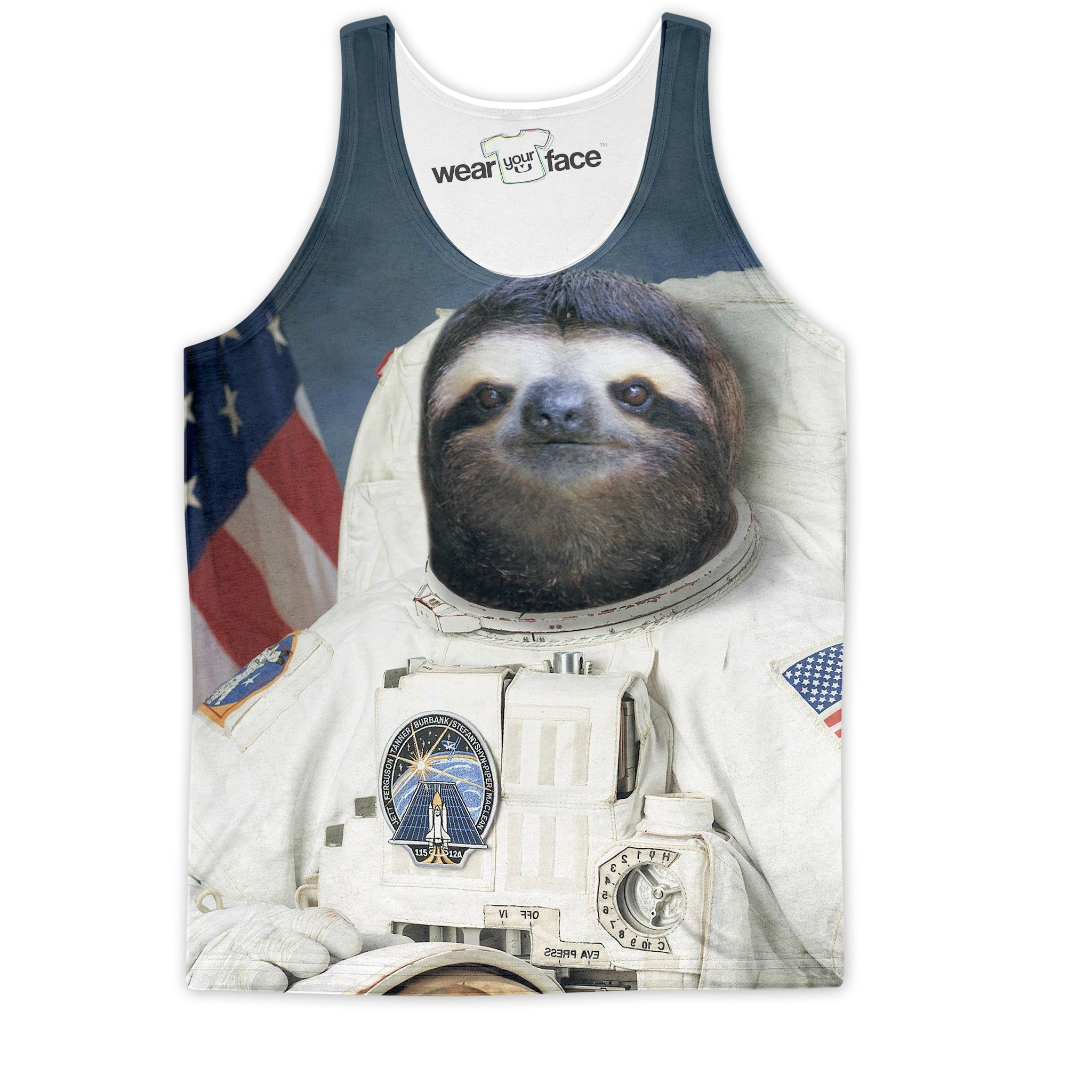 The Sloth Astronaut Mission Tank