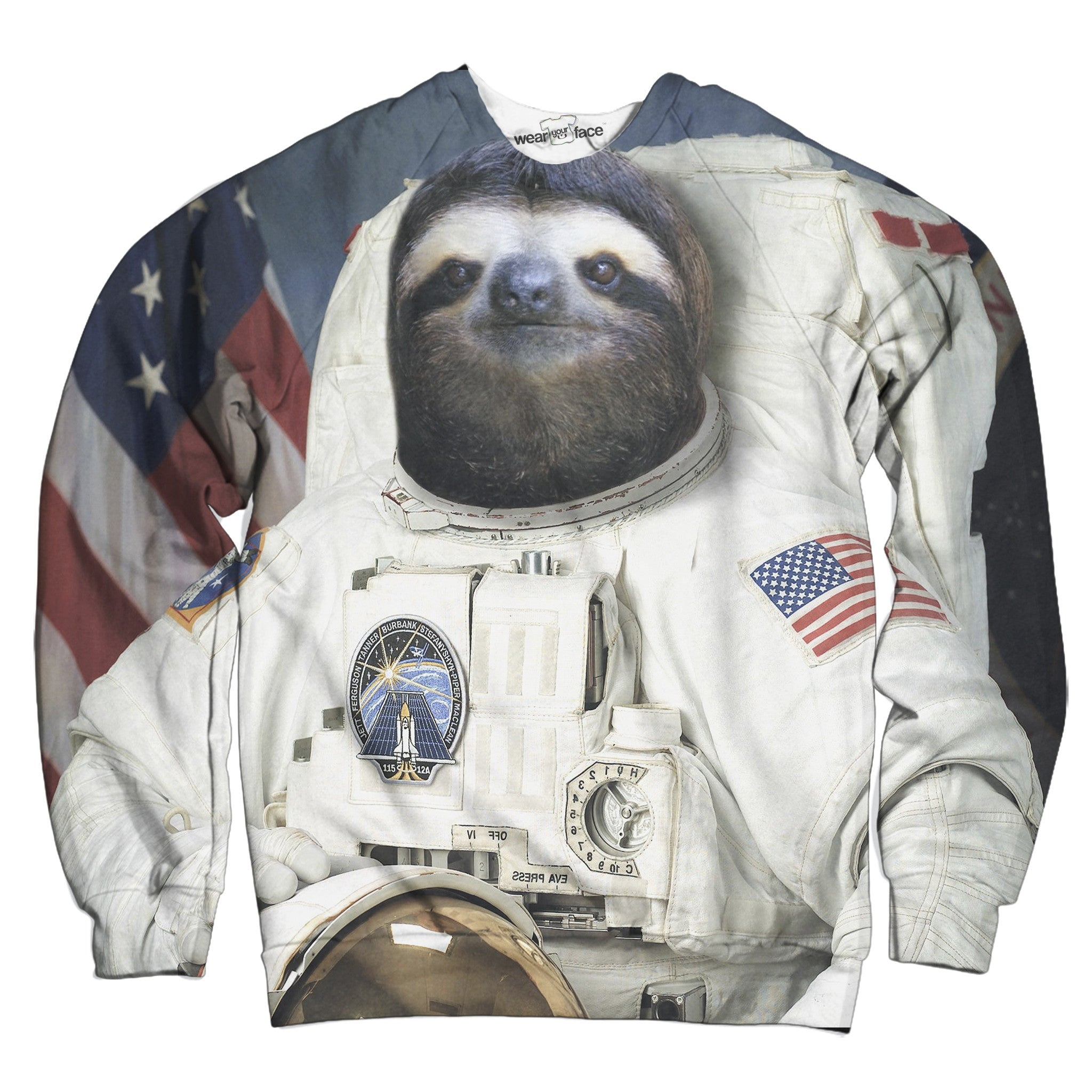 The Sloth Astronaut Mission Sweatshirt