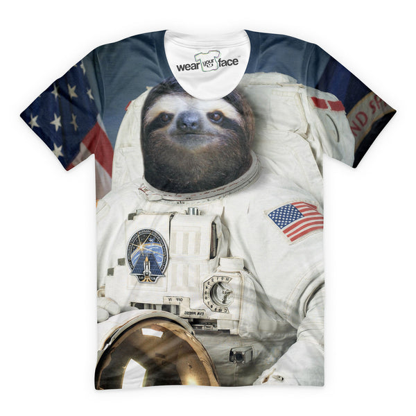 The Sloth Astronaut Mission T-Shirt