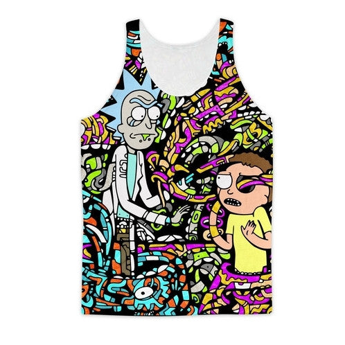 Rick and Morty Wrapped Up Tank