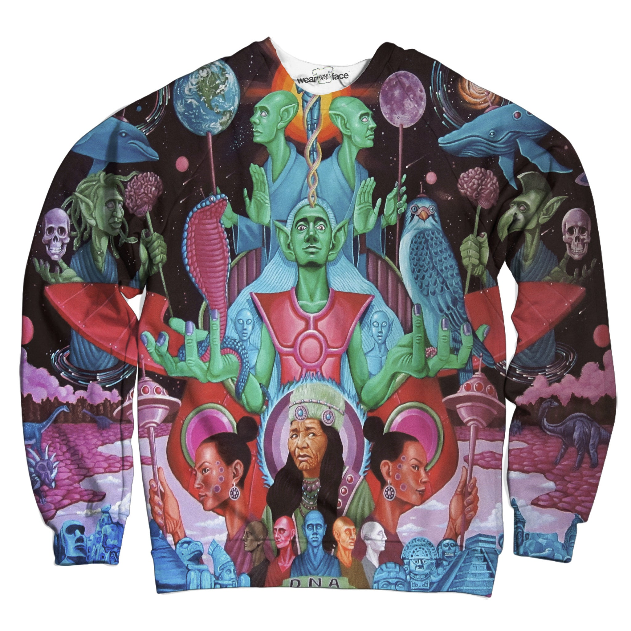 Native Space People Sweatshirt