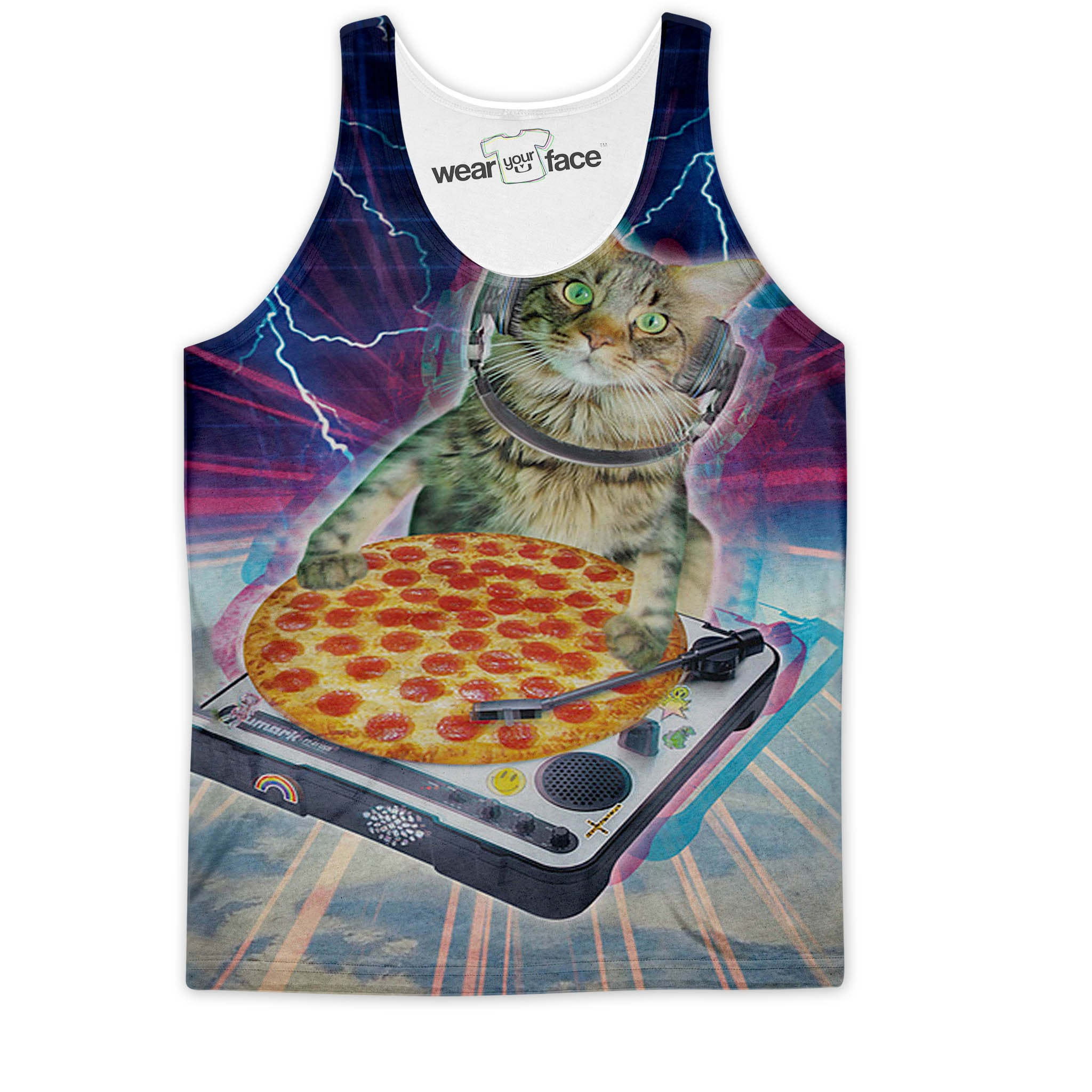 DJ Purrfect Pizza Tank