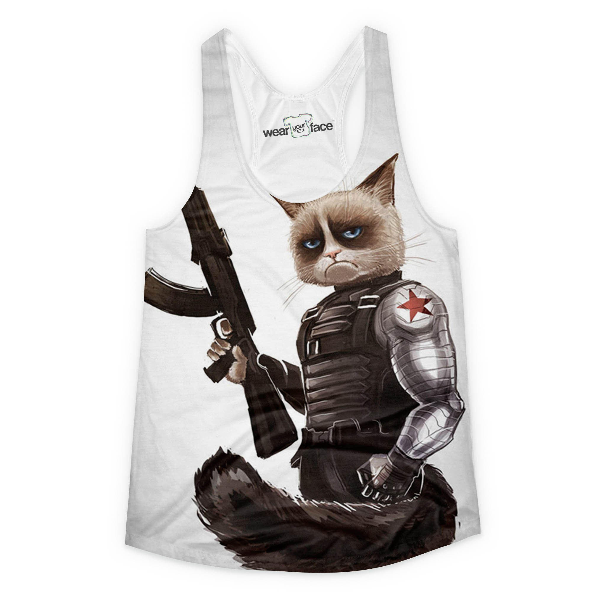 Grumpy Cat Soldier Girls Tank