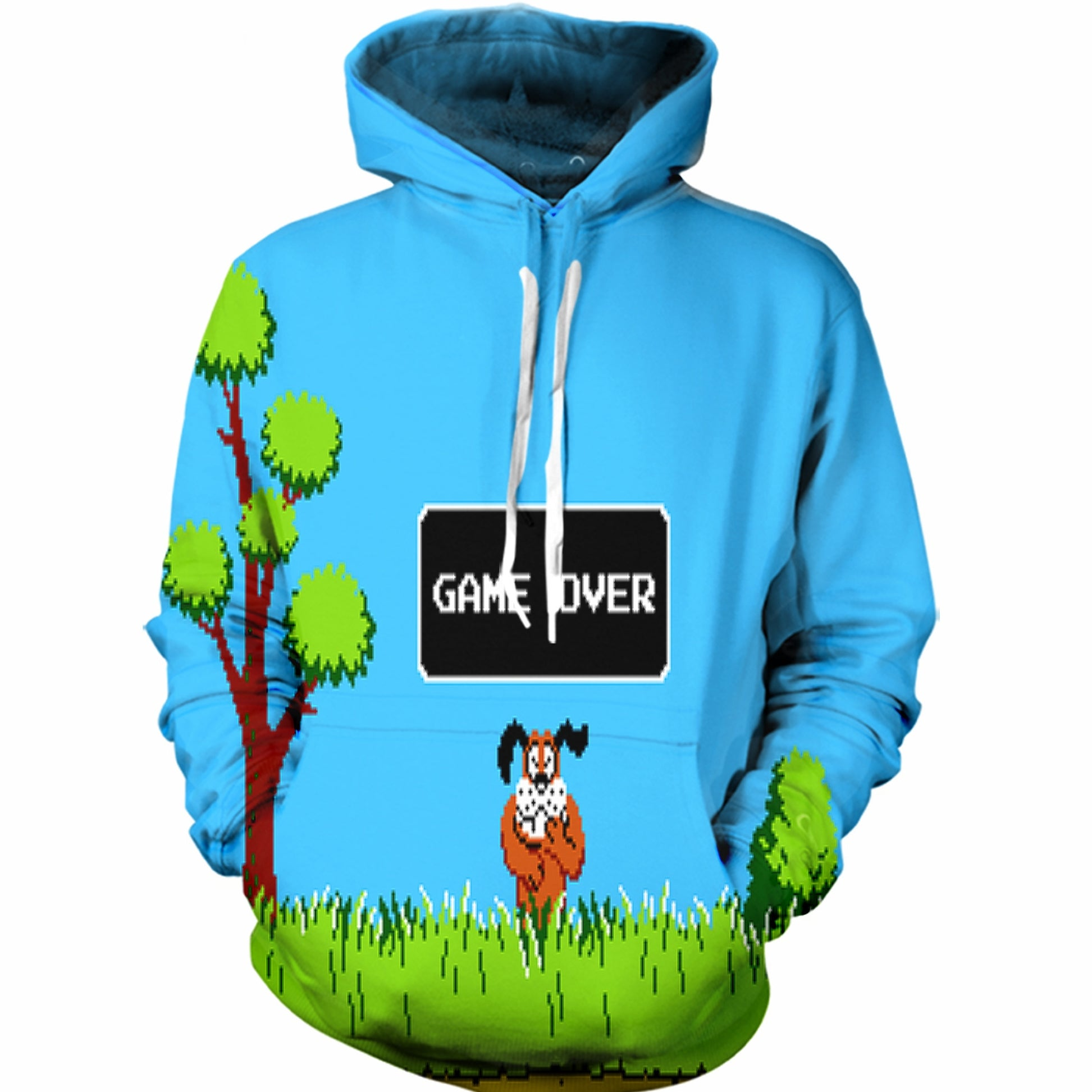 Game Over Duck Hunt Hoodie