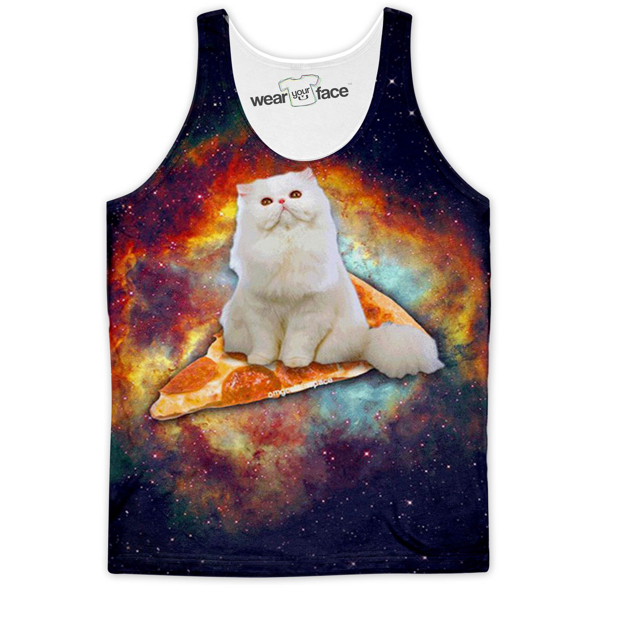 Purrfect Pizza Galaxy Tank
