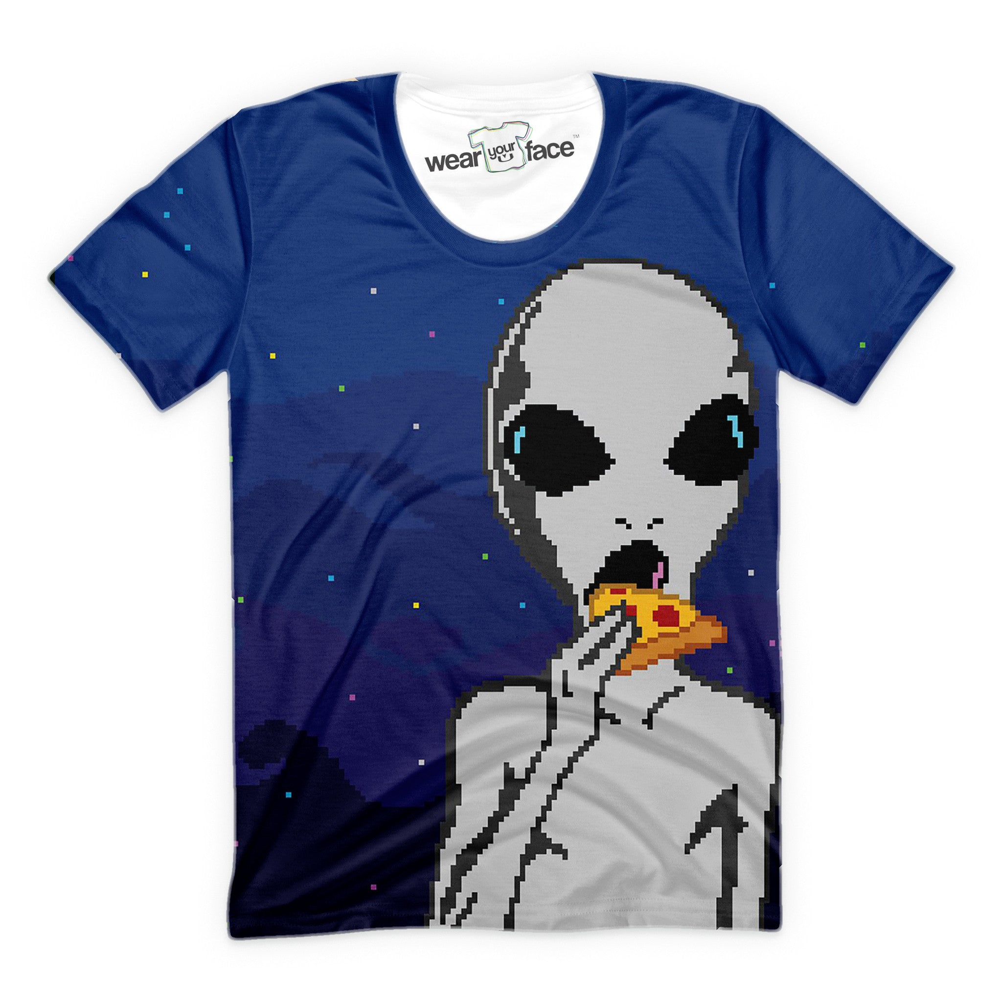Aliens Love Pizza T-Shirt