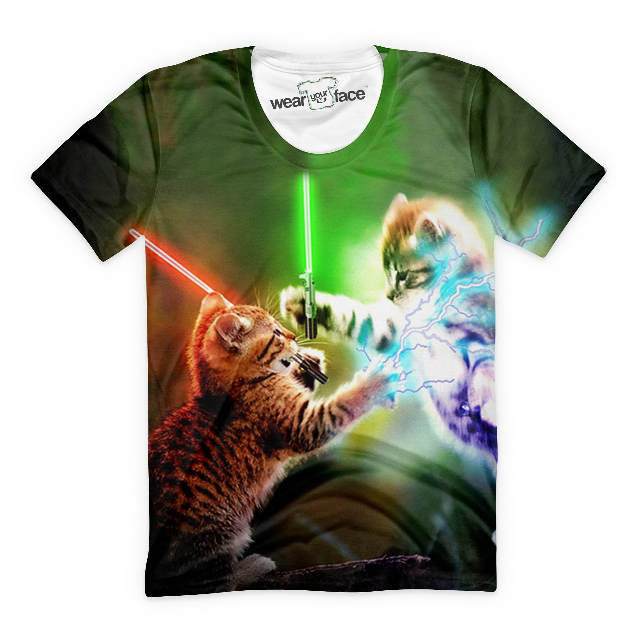 Lightsaber Cat Wars T-Shirts