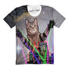 Giant Neon Spotlight Cat T-Shirt