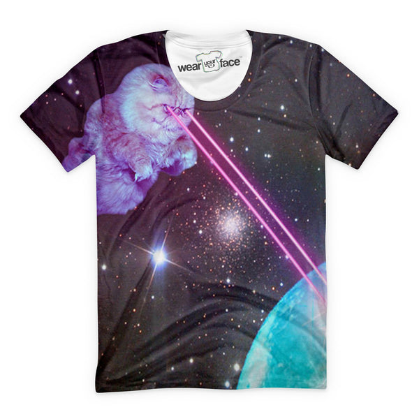 Fluffy Lasers Planet T-Shirt