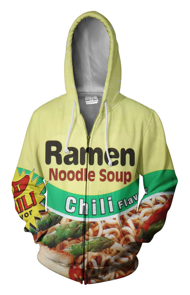 Top Ramen Chili Zip Up Hoodie
