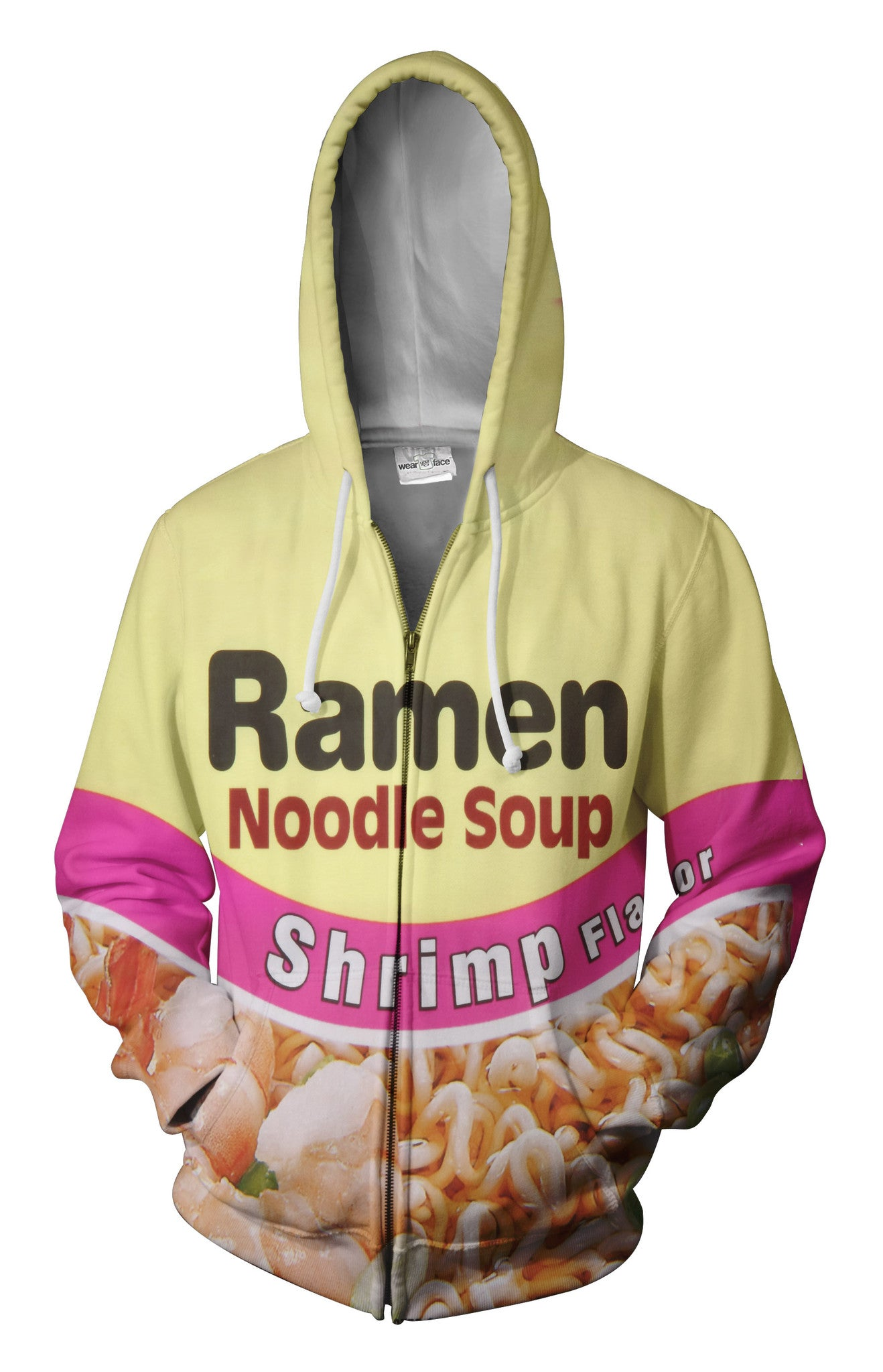 Top Ramen Shrimp Zip Up Hoodie