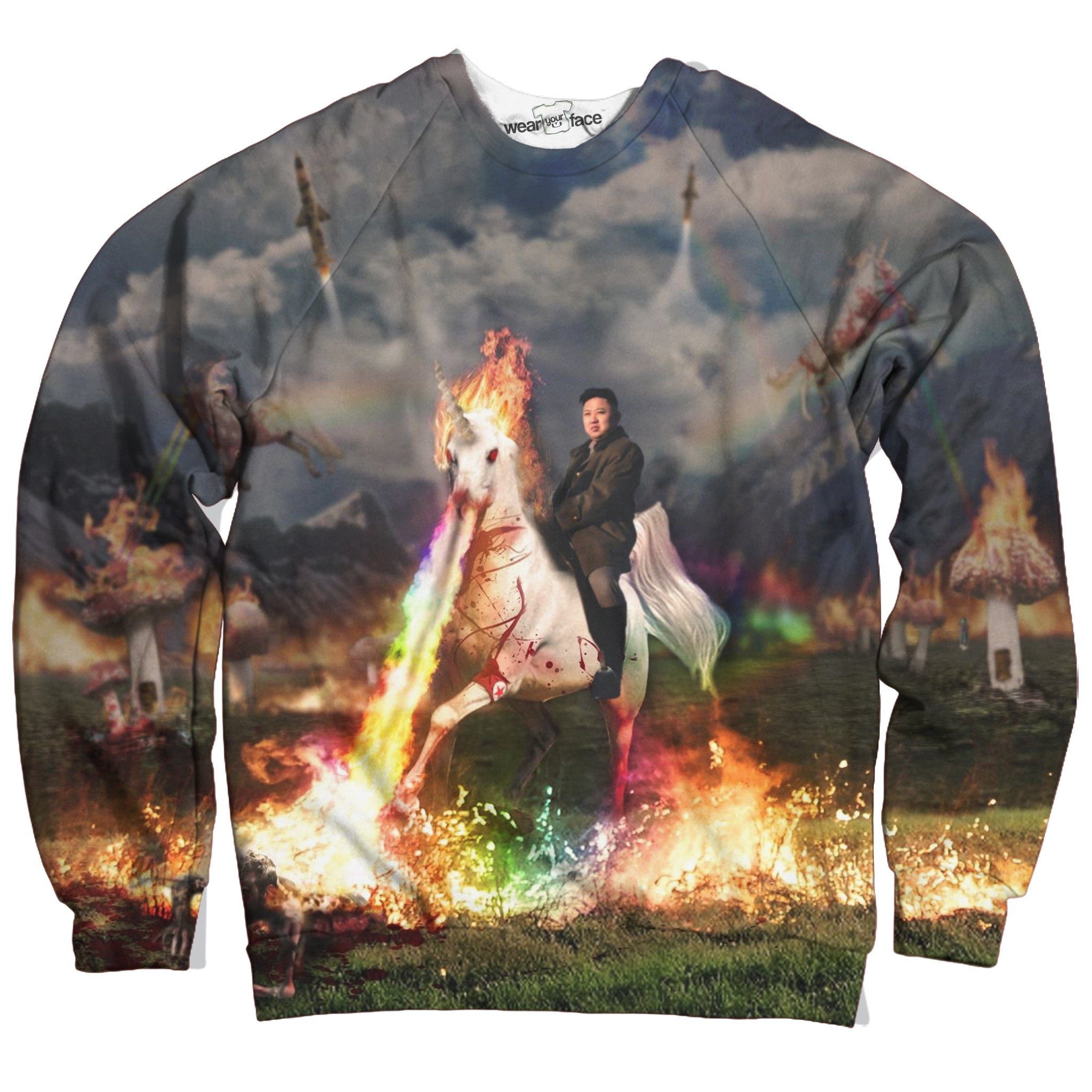 Rainbow Unicorn Kim Jong Un Sweatshirt