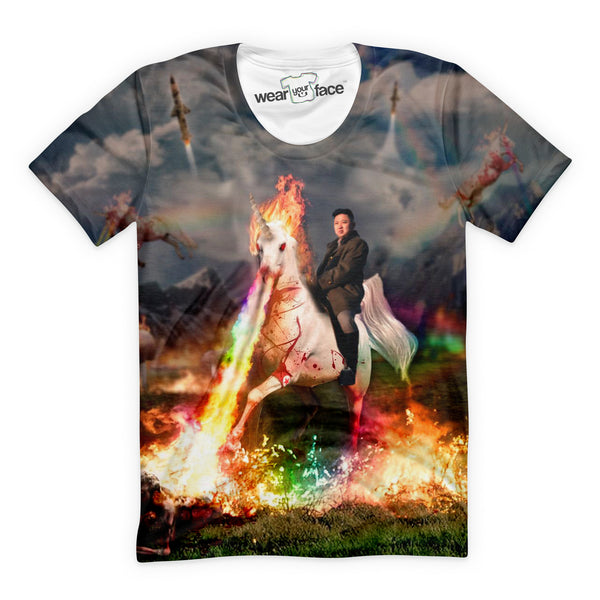 Rainbow Unicorn Kim Jong Un T-Shirt