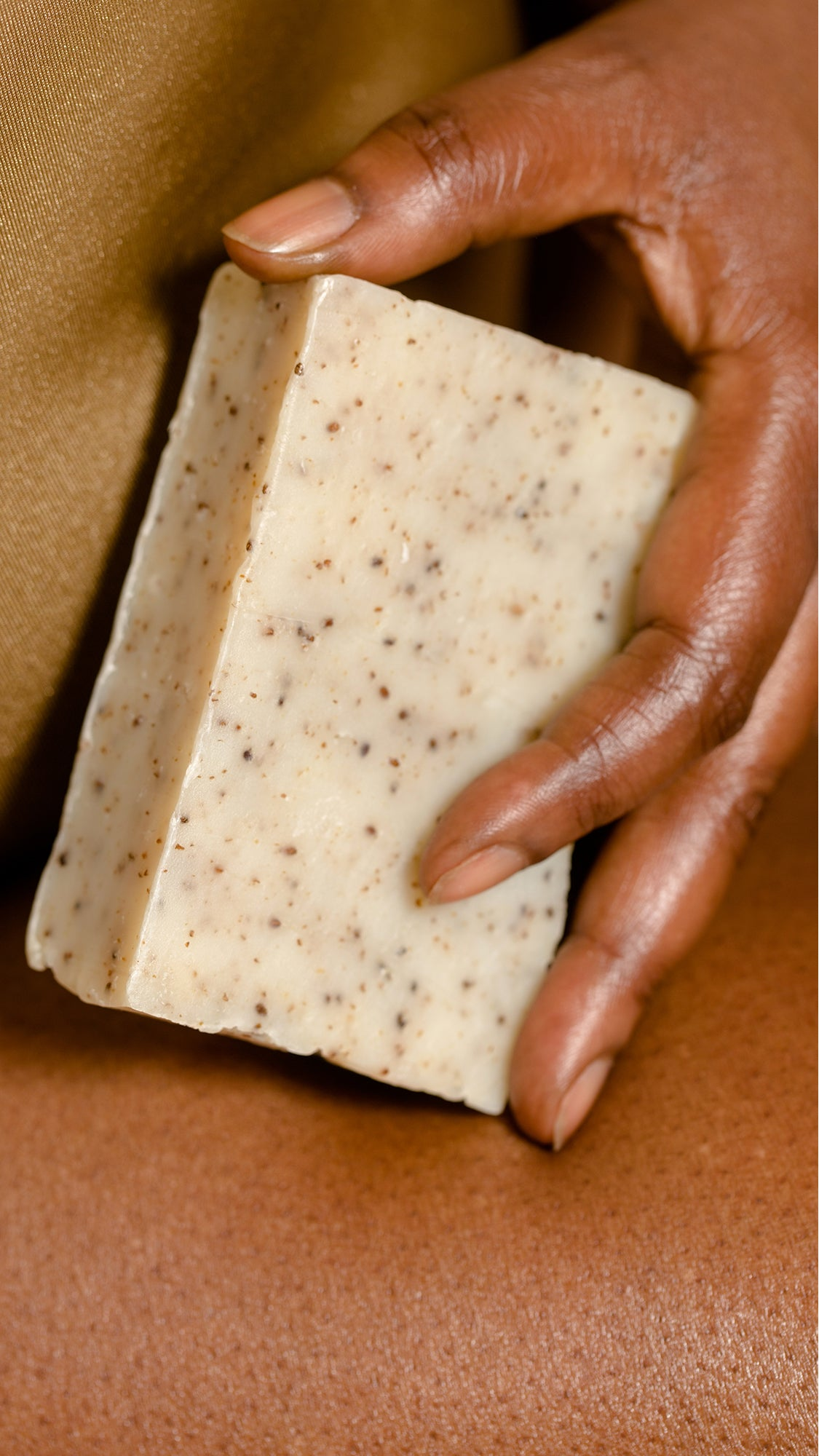 Chia Seed Bar Soap for Skin Hydration and Moisture