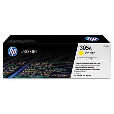 HP CE412A (HP 305A) Original Yellow Toner Cartridge - American Toner Supply