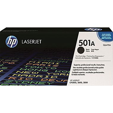 HP Q6470AC (501A) Original Black Toner -NEW - American Toner Supply