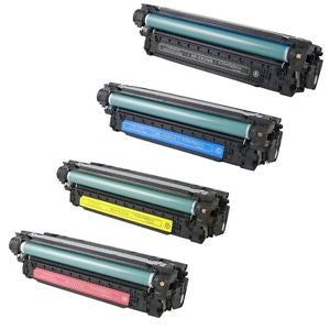 Compatible Hp 504A Toner 4 Colors set - CE250A, CE251A, CE252A, CE253A - American Toner Supply