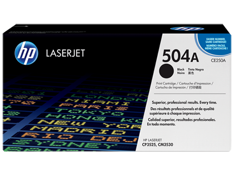 HP 504A Original Black Toner Cartridge (CE250A) - NEW - American Toner Supply