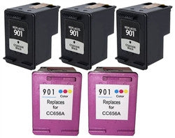 HP 901XL (CN069FN) Remanufactured Ink Cartridge 5 Pack - American Toner Supply