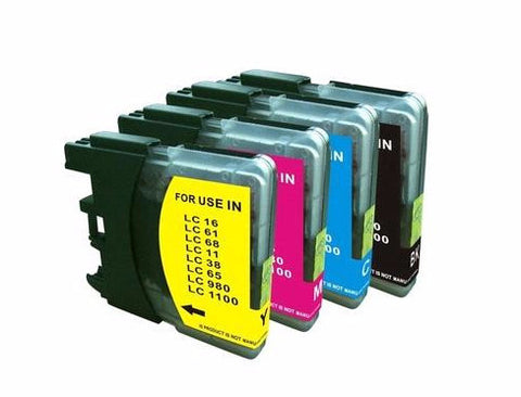 Brother LC65 HY-CL Compatible Ink Cartridge 4-Pack Color Set - American Toner Supply