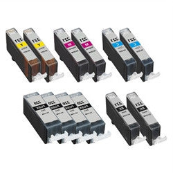 Canon CLI-221 Compatible Ink Cartridge 12 Pack Value Bundle (Includes 4 pigment black, 2 each BK/C/M/Y) - American Toner Supply