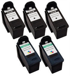Dell CH883, CH884 Remanufactured Ink Cartridge Five Pack Value Bundle - American Toner Supply
