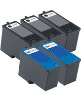Dell M4640, M4646 Remanufactured Ink Cartridge Five Pack Value Bundle - American Toner Supply