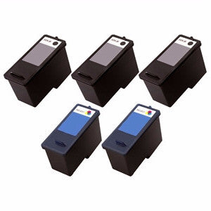 Dell CN594, CN596 Remanufactured Ink Cartridge Five Pack Value Bundle - American Toner Supply