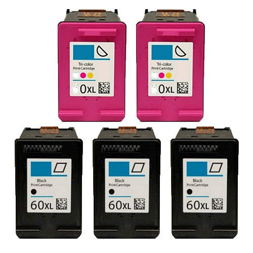 HP 60XL Compatible Ink Cartridge High Yield 5 Pack - American Toner Supply